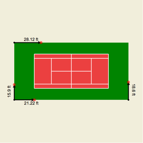 Perimeter of Squares and Rectangles: Tennis Court