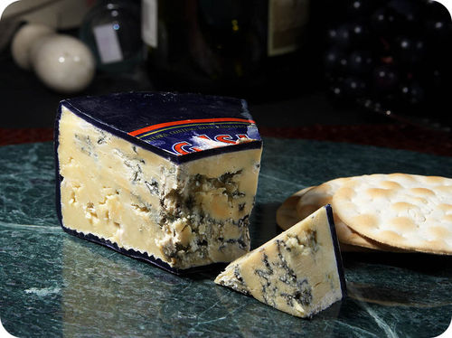 The blue in this blue cheese is actually mold, which is a fungus