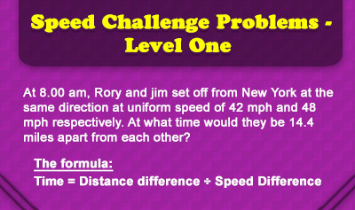 Speed Challenge Problems - Level One - Overview