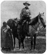 A pony express rider, circa 1861.