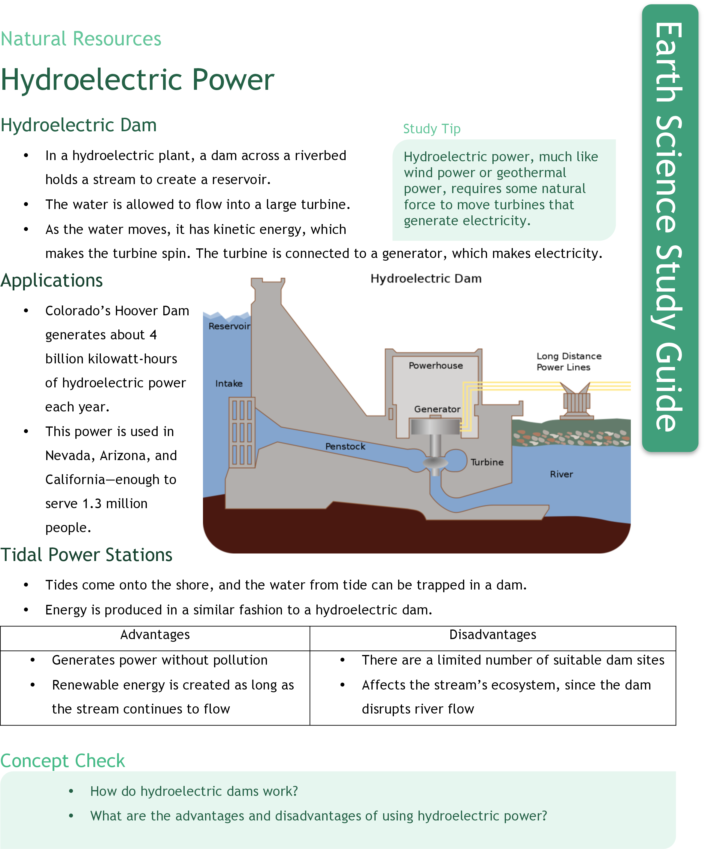 Hydroelectric Power Ck 12 Foundation Hoover Dam Plant Diagram Study Guide