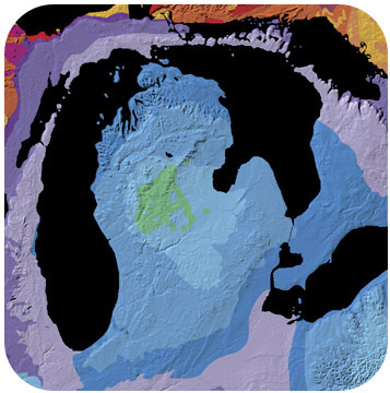 Map of the Michigan Basin