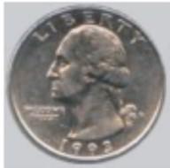 diameter of a quarter