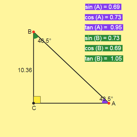 Solving the triangle