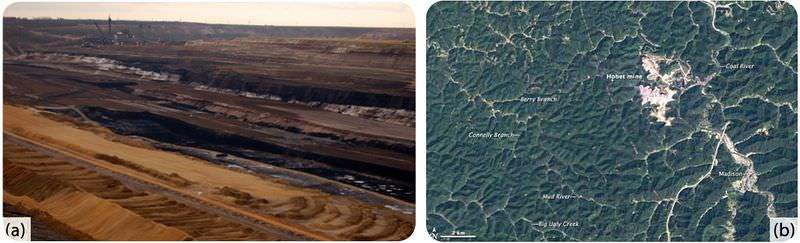 Surface mining can lead to soil erosion, but the land can be reclaimed by planting trees