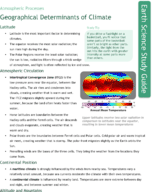 Geographical Determinants of Climate Study Guide