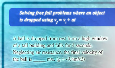 Free Fall - Example 1