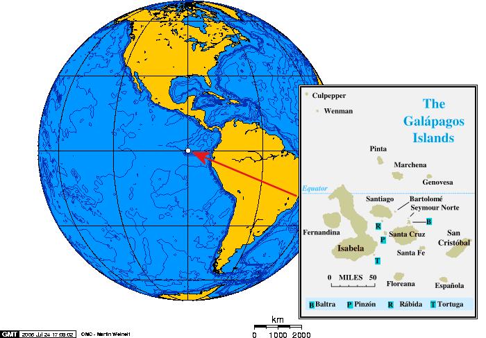 Galapagos Map.
