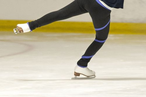 Ice skates help reduce friction
