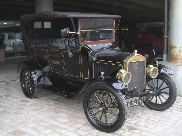 A restored Ford Model T.
