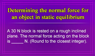 Force of Gravity (Weight) and Normal Force - Example 3