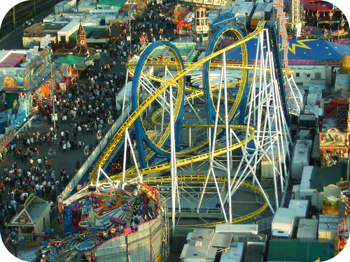 Energy is conserved during a roller coaster ride