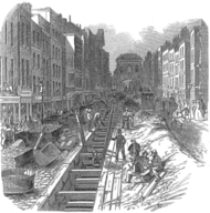 Image of a London sewer, which helped improve sanitation
