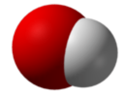 Structure of a hydroxide ion