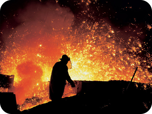 Picture of a steel mill