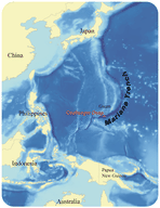 Mariana Trench in the Pacific Ocean