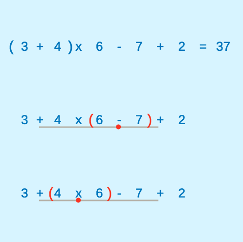 Numerical Expression Evaluation With Grouping Symbols Ck 12 Foundation
