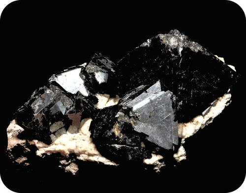 A crystal of magnetite, which is magnetic