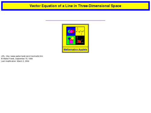 Make Your Own Vector Equation of a Line in 3-D Space!