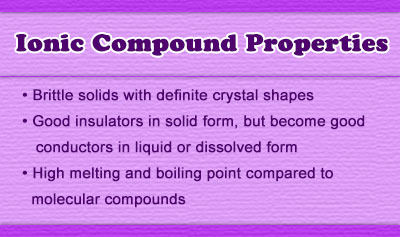 Ionic Compound Properties
