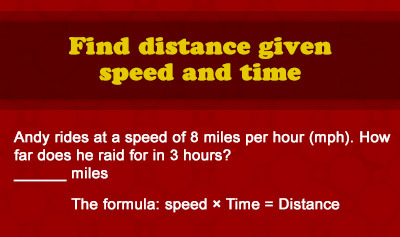 Calculating Distance, Rate, and Time - Example 1