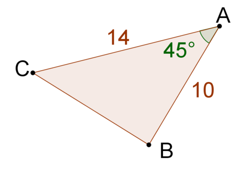 Sine To Find The Area Of A Triangle Ck 12 Foundation
