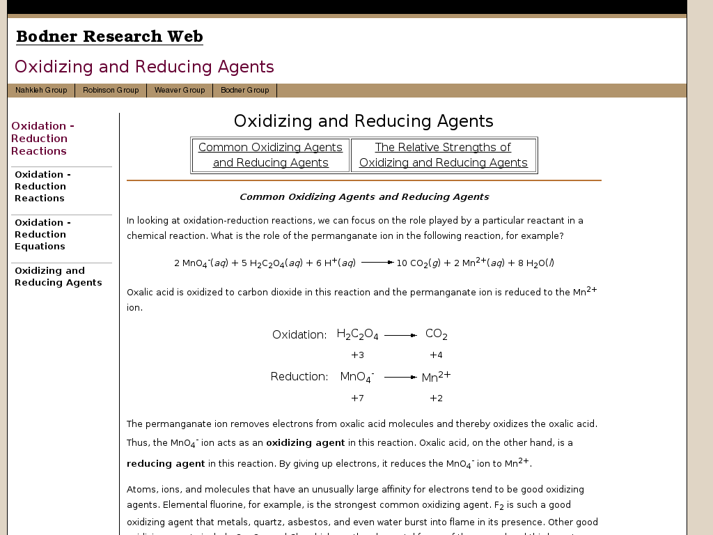 Oxidizing And Reducing Agents Ck 12 Foundation