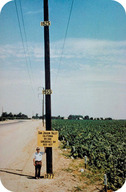 The ground has subsided tens of feet in the San Joaquin Valley in California due to groundwater used for agriculture