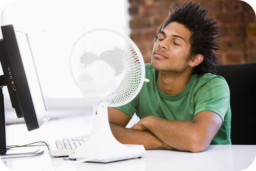 A fan cools you by evaporating sweat