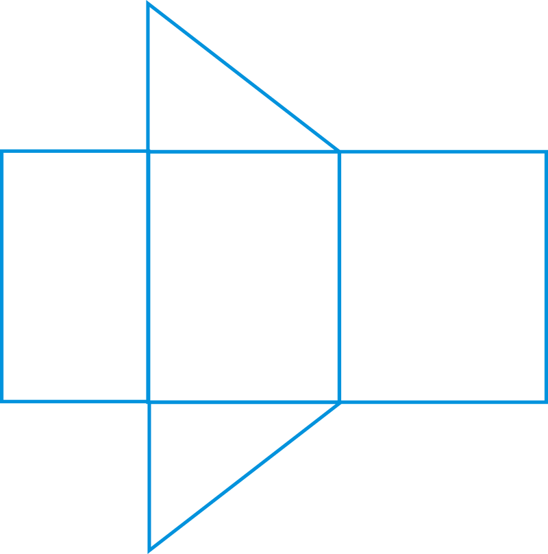 right triangular prism net pdf