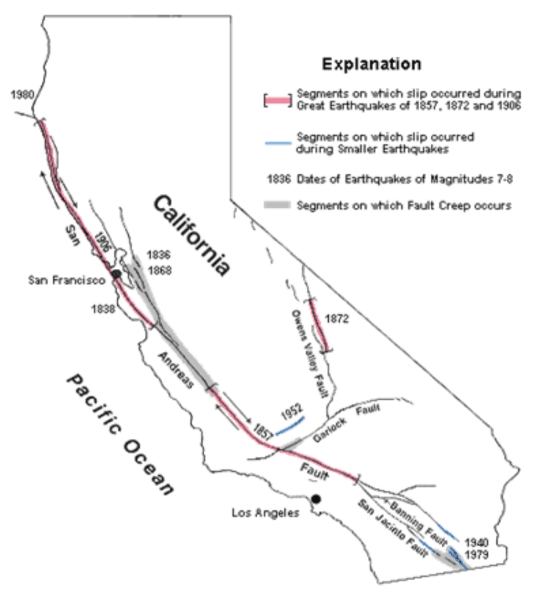Image Result For Usgs Earthquake Fault Map