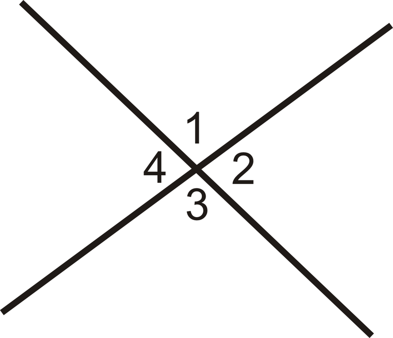 In Which Diagram Are Angles 1 And 2 Vertical Angles